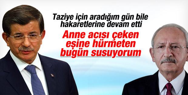 Kılıçdaroğlu'ndan taziyelerini bildiren Davutoğlu'na hakaret İZLE