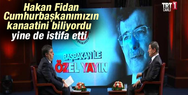 Başbakan Ahmet Davutoğlu TRT Haber'de