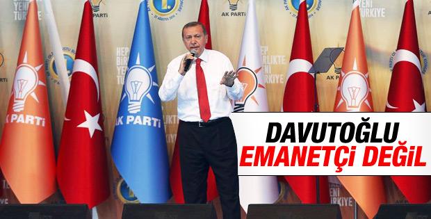Erdoğan: Davutoğlu emanetçi değil İZLE