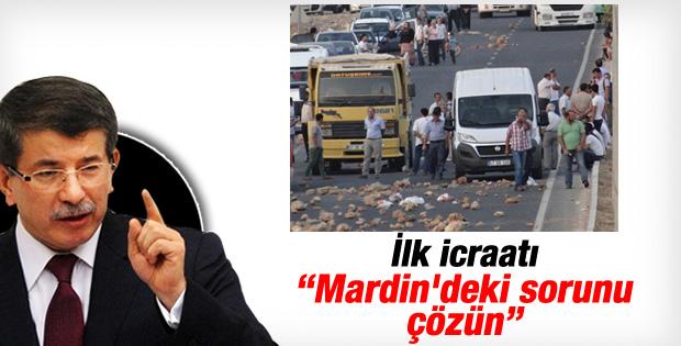 Başbakan Davutoğlu'nun ilk icraatı