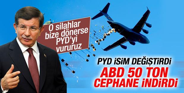 Davutoğlu ABD'nin PYD'ye silah yardımını değerlendirdi