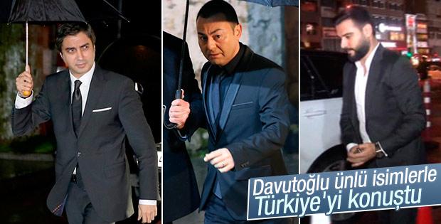 Davutoğlu 'Dost Meclis Yemeği'ne ünlü isimler katıldı