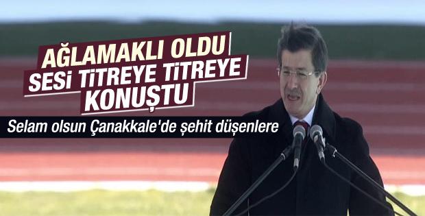 Davutoğlu'nun Çanakkale töreni konuşması