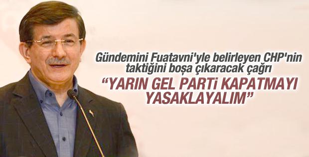 Davutoğlu'ndan parti kapatmayı imkansızlaştıralım çağrısı