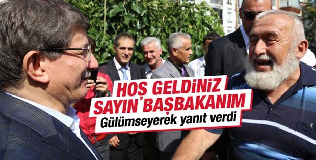 Davutoğlu Sayın Başbakanım diye karşılandı