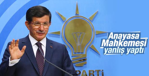 Davutoğlu'ndan AYM'nin dershane kararına ilk yorum