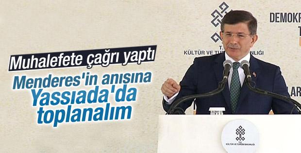 Başbakan Davutoğlu'ndan siyasilere Yassıada çağrısı