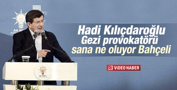 Davutoğlu'ndan Bahçeli ve Kılıçdaroğlu'na tepki