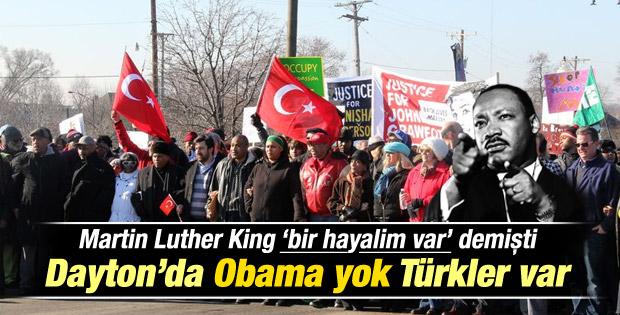 Obama'sız Martin Luther King Günü'nde Türkler siyahilerle yürüdü