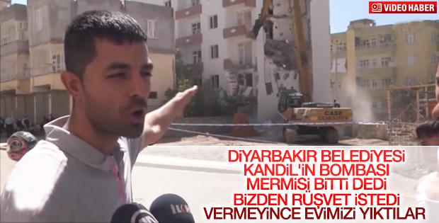 Diyarbakır Belediyesi terör mağdurlarının yaşadığı binayı yıktı