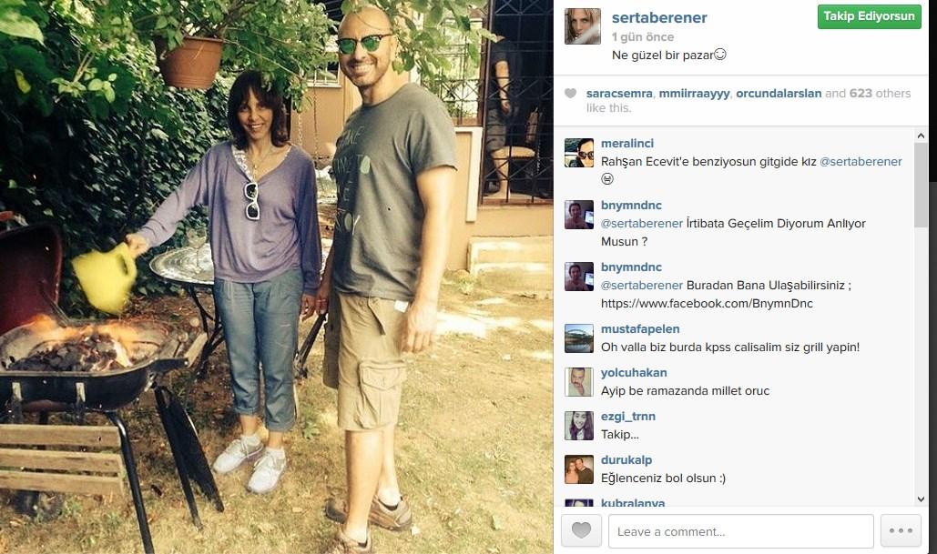 Sertab Erener'in mangal keyfi hayranlarını kızdırdı