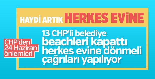 CHP'li belediyeler beachleri kapattı