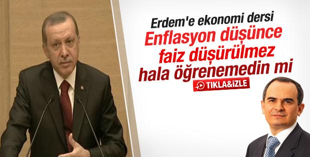 Erdoğan'dan Merkez Bankası'na faiz dersi