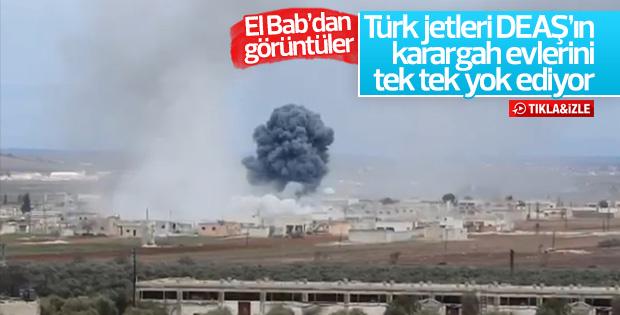 Türk jetlerinin 27 DEAŞ hedefini vurma anı