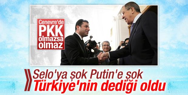 Lavrov ve Demirtaş'ın Cenevre hayali suya düştü