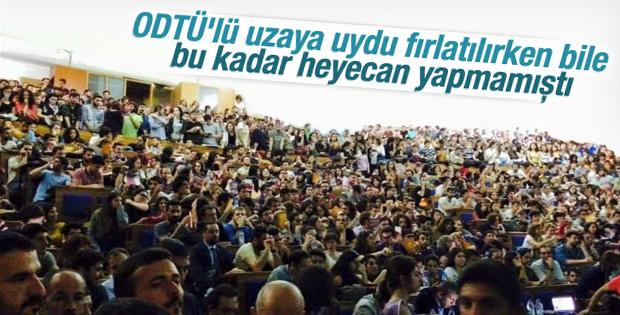 Demirtaş ODTÜ'de coşkuyla karşılandı