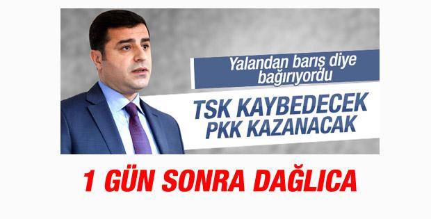 Demirtaş PKK kazanacak dedi 1 gün sonra pusu kuruldu