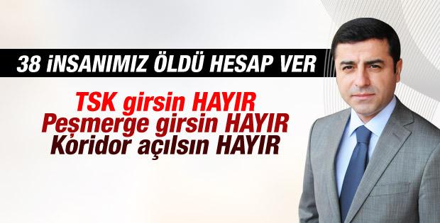 HDP hükümetin Kobani tekliflerinin tamamını reddetti