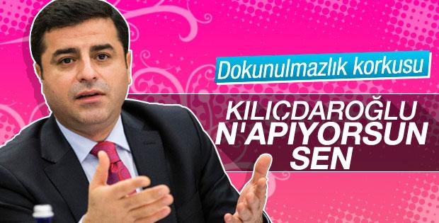 Demirtaş'tan Kılıçdaroğlu'na dokunulmazlık tepkisi