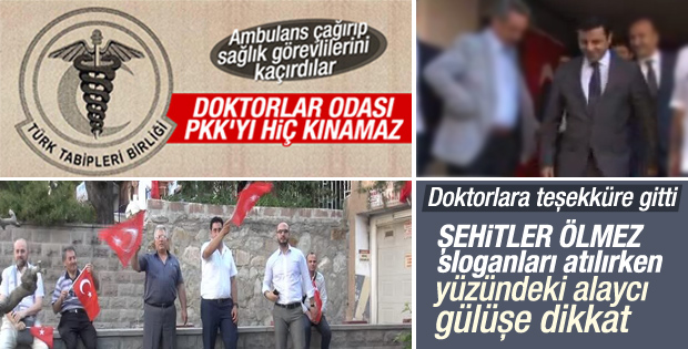Selahattin Demirtaş'a Türk bayraklı protesto