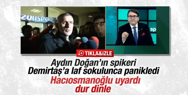 CNN spikeri Hacıosmanoğlu'nun sözlerini durdurmak istedi