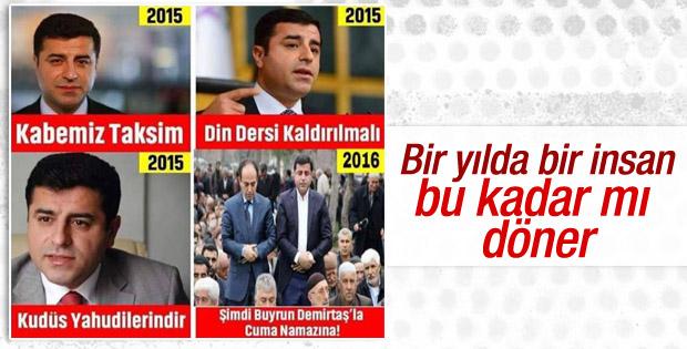 Kabemiz Taksim diyen Demirtaş'ın değişimi caps oldu