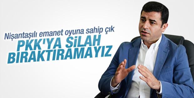 Selahattin Demirtaş: PKK'ya silah bıraktıramayız