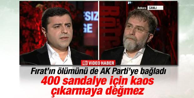 Demirtaş Fırat'ın ölümüyle ilgili AK Parti'yi suçladı
