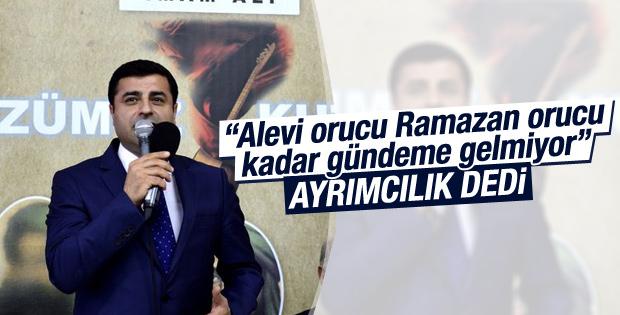 Demirtaş'tan Muharrem ayı tepkisi