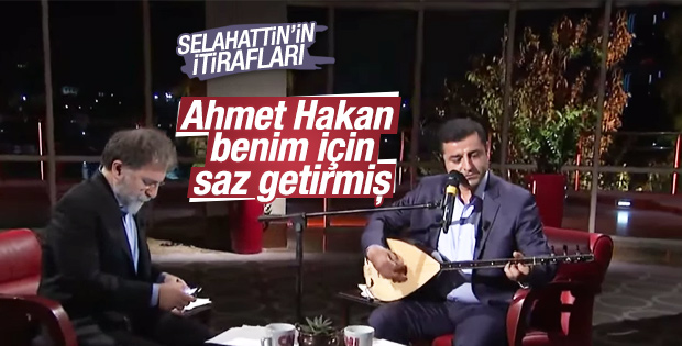 Selahattin Demirtaş'tan saz itirafı