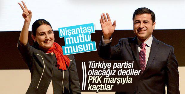 HDP balonu asıl şimdi patladı: PKK marşıyla kaçtılar