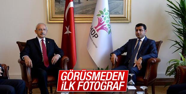 Kılıçdaroğlu ile Demirtaş görüşmesi Meclis'te başladı