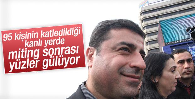 Demirtaş kanlı meydanda HDP'ye oy istedi