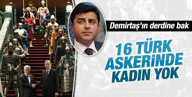 Demirtaş: 16 Türk askerinde kadın yok