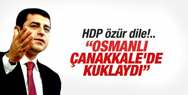 HDP'den Osmanlı'yı suçlayan Çanakkale mesajı