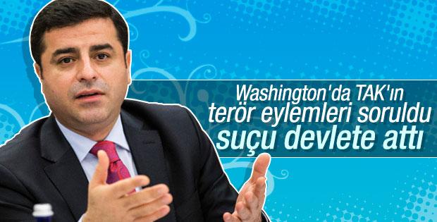 Demirtaş Washington'da konuştu