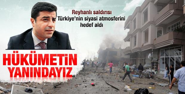 Demirtaş'tan hükümete Reyhanlı desteği