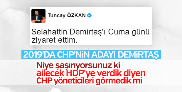 CHP vekilin Demirtaş'ı ziyareti CHP'lileri kızdırdı