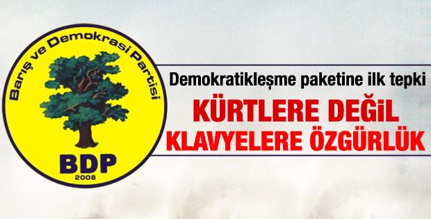 Demokratikleşme paketine BDP'den tepki