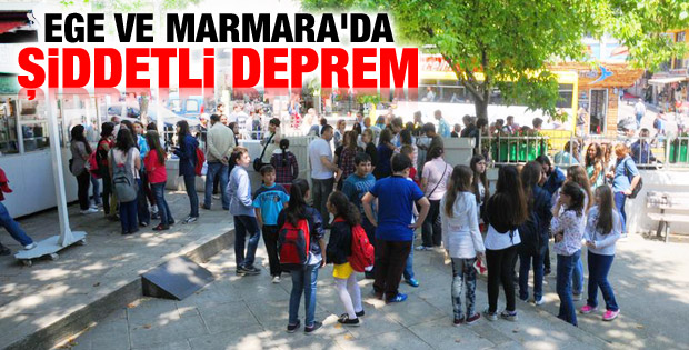 Ege ve Marmara'da deprem İZLE