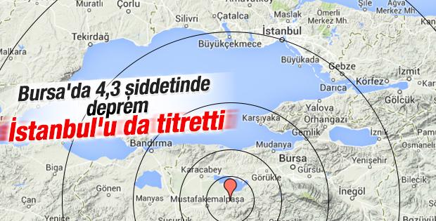 Bursa'daki deprem İstanbul'u da salladı