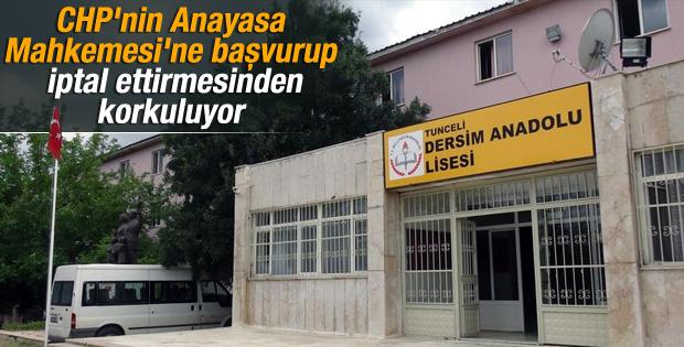 Tunceli'de devlet okuluna Dersim adı verildi