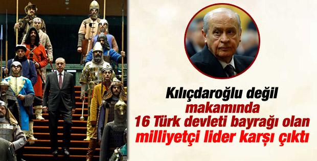 Bahçeli 16 Türk devletinin askeri temsil törenini eleştirdi