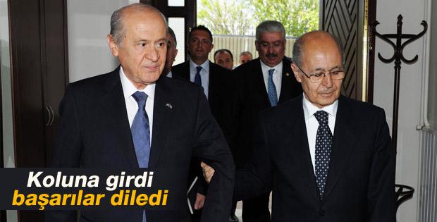 Devlet Bahçeli Ahmet Necdet Sezer'le buluştu İZLE