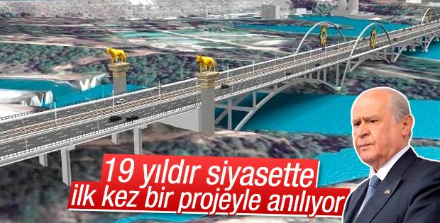 Devlet Bahçeli Köprüsü'nün temelini Bahçeli atacak