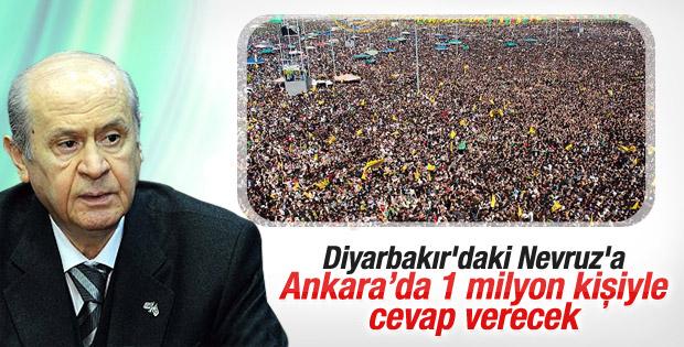 MHP Diyarbakır'daki Nevruz'a Ankara'da cevap verecek