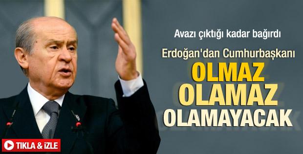 Devlet Bahçeli'den Başbakan Erdoğan'a sert çıkış İZLE
