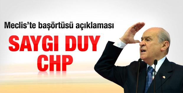 Bahçeli'den Meclis'te başörtüsü açıklaması