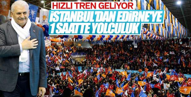 İstanbul-Edirne arası 1 saate iniyor