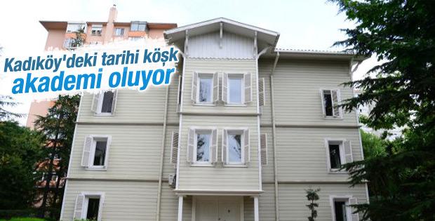 Kadıköy'deki tarihi köşk akademi oluyor